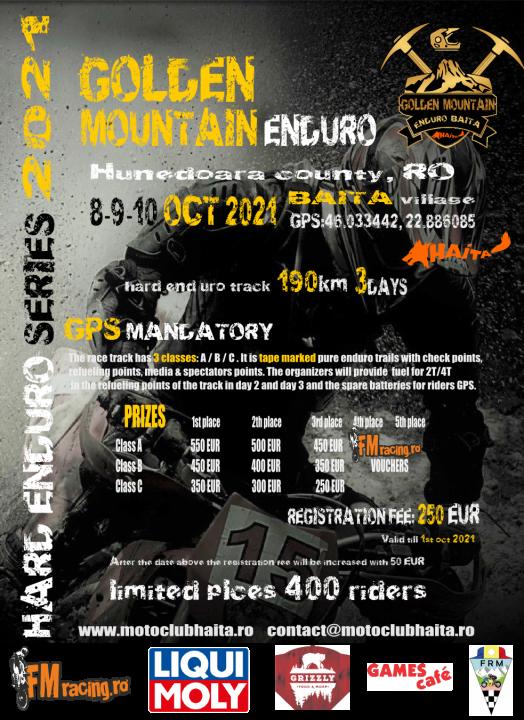 JOIN US for 2021 GOLDEN MOUNTAIN ENDURO BAITA